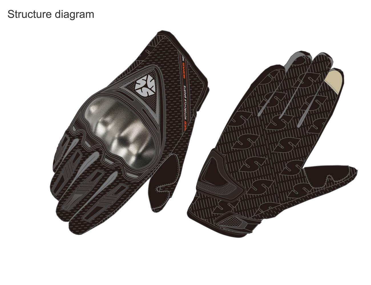 SCOYCO Men's Race Extreme Sports Protective Outdoor Motorcycle Gloves(Black,XL) by SCOYCO (Image #6)