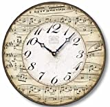Item C2302 Vintage Style 12 Inch Music Notes Clock Review