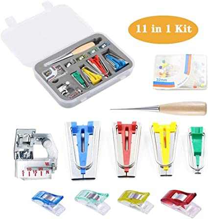 Fabric Bias Tape Maker Set,Home DIY Patchwork Sewing Accessories Tools Style 1 Sewing Bias Tape Makers for Quilting Binding Tool Set 6MM//12MM//18MM//25MM