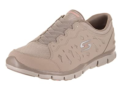 Skechers Gratis-Light-Heart Taupe Womens Fashion Sneaker Size 6M