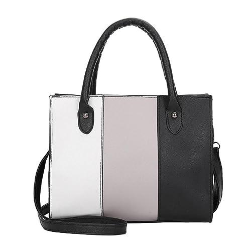 995afa4f11bea TUDUZ Schultertasche Damen Handtasche PU-Leder Beuteltasche Shopper  Umhängetasche Tasche (Grau)