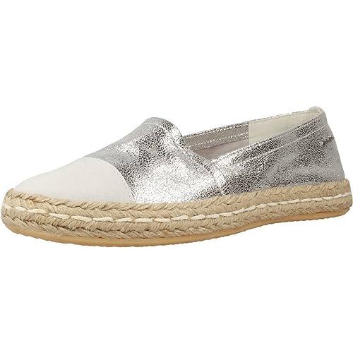 Alpargatas para Mujer, Color Plateado, Marca GEOX, Modelo Alpargatas para Mujer GEOX D Modesty Plateado: Amazon.es: Zapatos y complementos