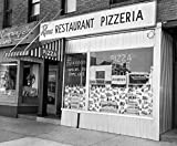 Great Art Now 1960s Restaurant Pizzeria Storefront by Vintage PI Art Print, 20 x 17 inches