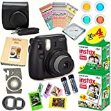 Fujifilm Instax Mini 8 (Black) Deluxe kit bundle Includes: - Instant camera with Instax mini 8 instant films (40 pack) - A MASSIVE DELUXE BUNDLE