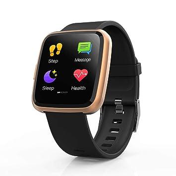 Hommie Reloj Inteligente con Pantalla Táctil Completa, S2 Smartwatch Pulsera Actividad Inteligente Impermeable IP67 con Pulsómetro, Monitor de ...