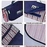 MIU-COLOR-langlebige-Picknick-Matte-Picknickdecke-am-Meer-Garten-Camping-mit-wasserabweisender-Rckseite-klappen-wie-eine-Tasche-mit-Griffen
