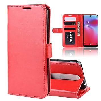 Henxunton Vodafone Smart V10 Funda Tipo Libro Piel Case Cover ...