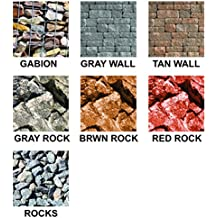14 Assorted Rock Scenery Sheets for Scrapbooking and Paper Crafts