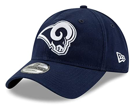 brand new 096a0 0408a Image Unavailable. Image not available for. Color  New Era Los Angeles Rams  NFL 9Twenty Logo Stitcher Adjustable Hat