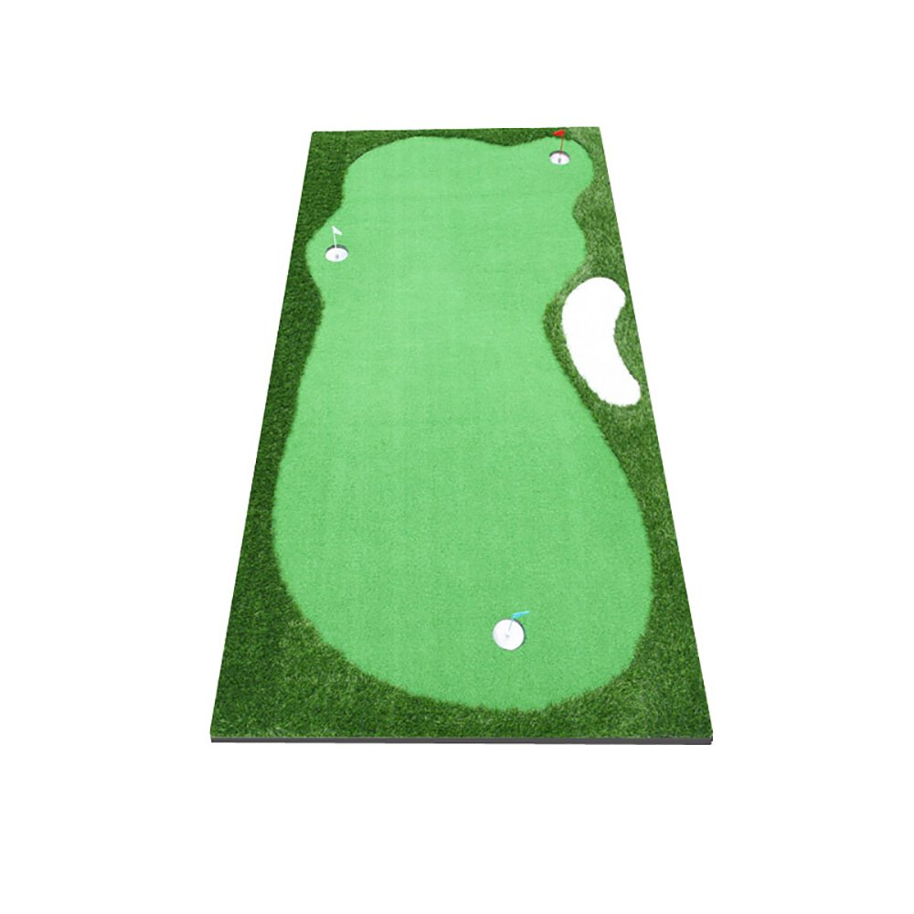 GLJJQMY 屋内ゴルフグリーントレーナーパットトレーナーミニエクササイズマット ゴルフマット B07PGZGFR9