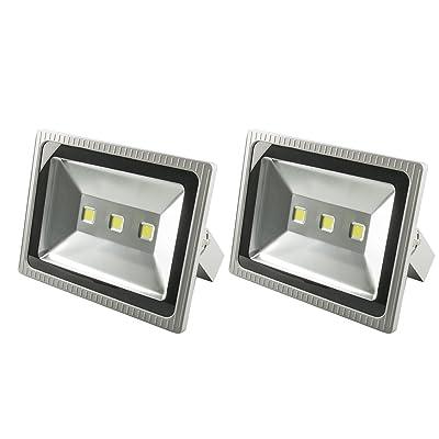 2X 10W 20W 30W 50W 100W 150W 200W 300W Projecteur à LED Projecteur lampes projecteurs extérieure IP65 Blanc Froid(300W)