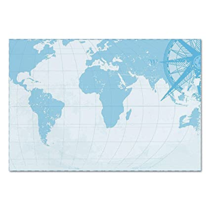 Amazon Com Large Wall Mural Sticker Map Blue Grunge Background