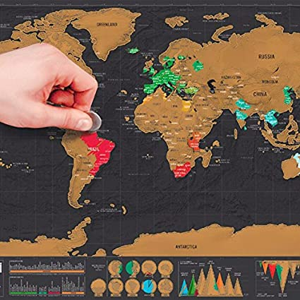 Amazon luxury edition black scrape world map deluxe travel luxury edition black scrape world map deluxe travel scratch world map travel map poster scratch off gumiabroncs Images