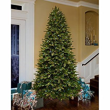 ge 9 ft artificial aspen fir pre lit led ez light technology dual color christmas