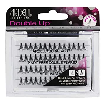 15a85062f0b Amazon.com : Ardell Knot-Free Individual Lash Double, Black, Medium : Fake  Eyelashes And Adhesives : Beauty