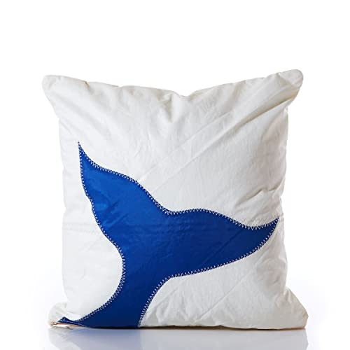 95747d450b38 Amazon.com  Recycled Sail Cloth Whale Tail Pillow 16