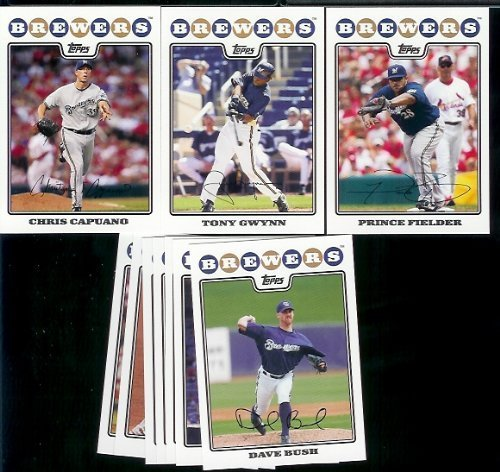 2006 Topps Team Set (Milwaukee Brewers Baseball Cards - 6 Years Of Topps Team Sets 2004,2005,2006,2007, 2008 & 2009 - Includes ALL regular issue Topps Cards For 6 Years - Includes Stars, Rookie Cards & More!)