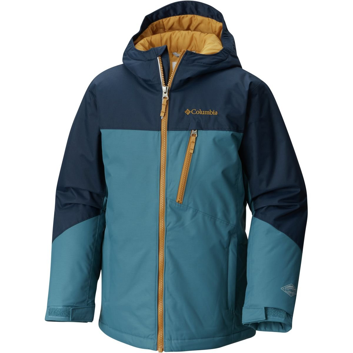 Columbia Boys Double Grab Jacket, Collegiate Navy/Blue Heron, Small