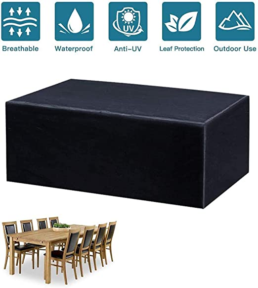 Amazon Com Llkjt Garden Furniture Covers Patio Furniture Covers Waterproof Furniture Cover Rectangular Cover Windproof And Anti Uv 120x120x74cm Home Kitchen
