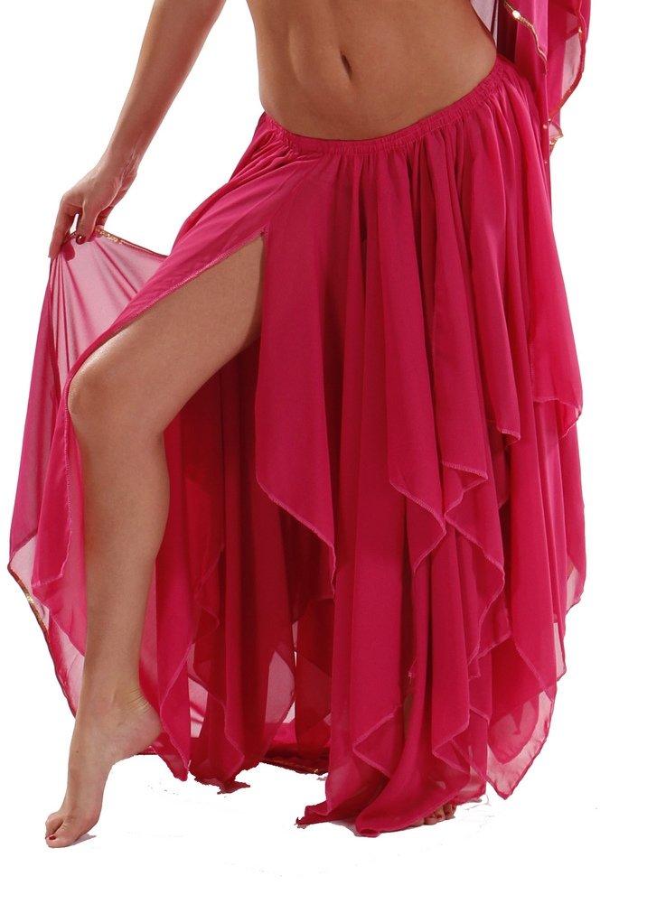 BELLY DANCE ACCESSORIES 13 PANEL CHIFFON SKIRT - FUSCHIA by Miss Belly Dance