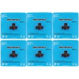 Printerfield IR-40T (6 Pack) Compatible Calculator Printer Ribbons Ink Roller Black/