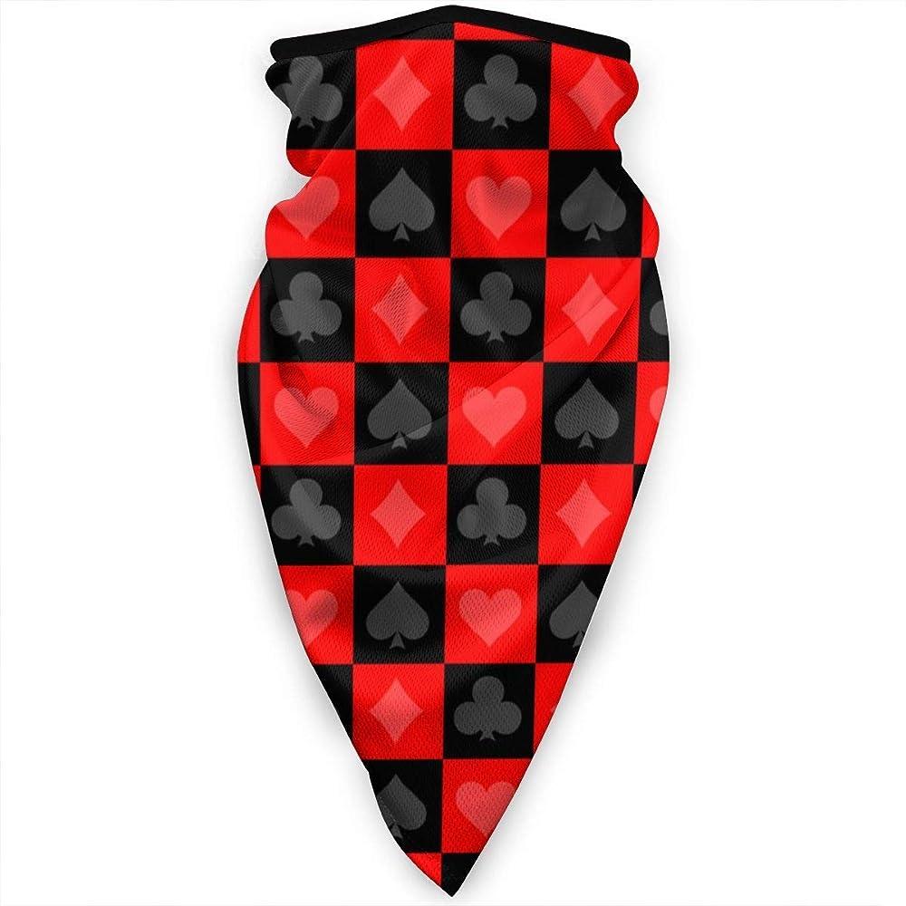 Miedhki Poker Rojo Negro Patrón Mascarilla Cuello Polainas Pañuelo ...