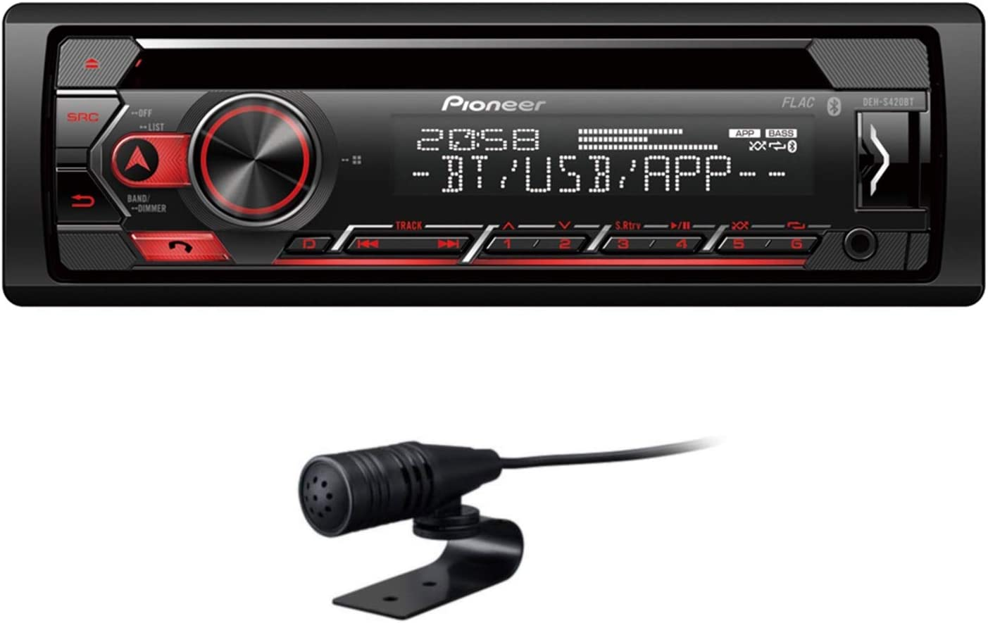 Pioneer Deh S420bt 1din Car Radio Cd Tuner With Rds Bluetooth Mp3 Usb And Aux Input Handsfree Smart Sync App 13 Band Equaliser Ipod Control Auto