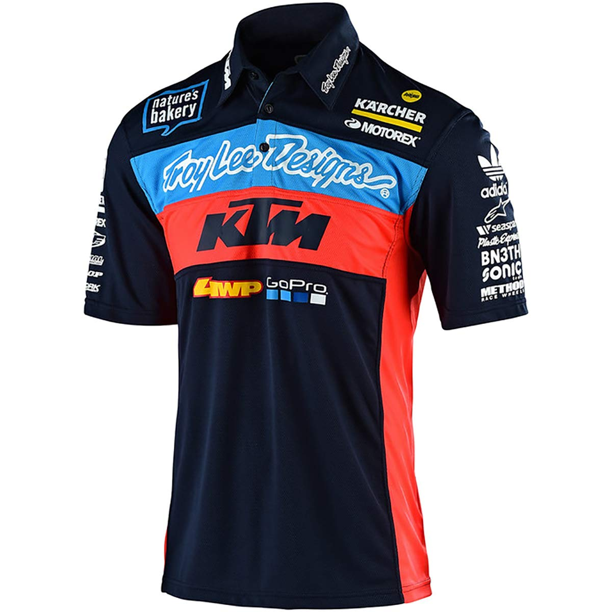 2019 Troy Lee Designs Men's KTM Team Pit Shirts,Medium,Navy