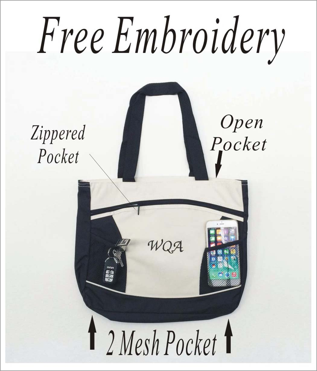 Personalized Bride tote bag-Wedding Monogrammed,Initialed tote bag-Free Embroidery