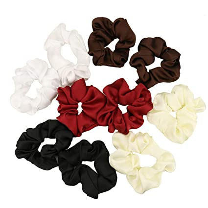 Pack of 10 White Hair Bands Elastics Bobbles Hair Pony
