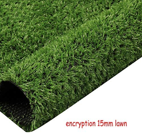 XEWNEG 15mmの緑の人工芝、暗号化された防水、カット可能、壁のバルコニーの屋外の庭の装飾、偽の芝生のペットマット、幅2mのために適した (Size : 2x1.5M)