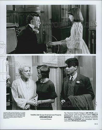 """1985 prensa fotos Ian Holm, Amelia shankley y Coral Browne En """"dreamchild"""""""