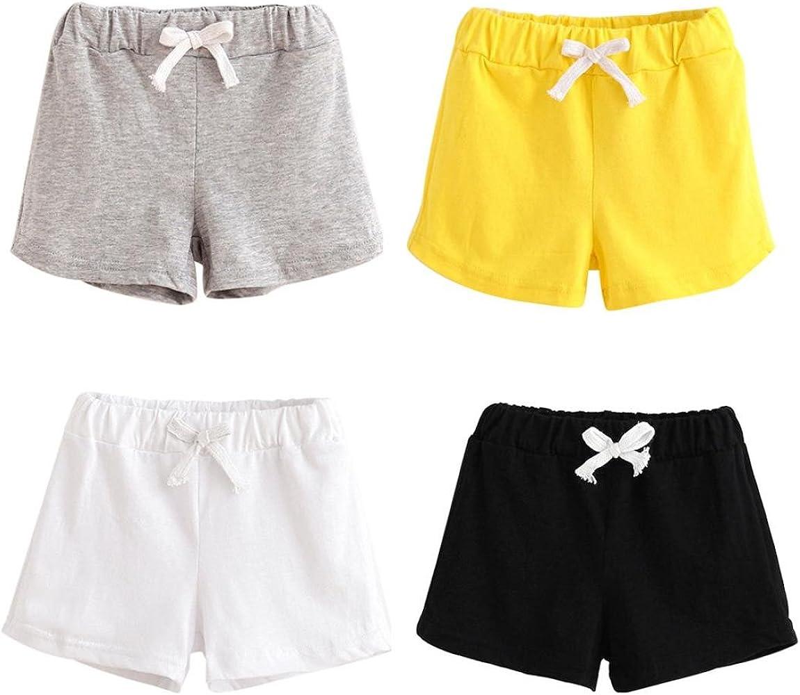 Hwafan Toddler Baby Boys Girls Solid Color Summer Sport Jogger Active Shorts Pants