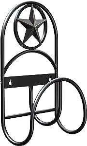 GOFORWILD Garden Hose Holder, Decorative Hose Butler Sturdy Water Hose Rack, Durable Wall Hose Hanger, Holds 125-Feet of 5/8-Inch Hose, Hose Reel, Made of Gauge Steel (21)