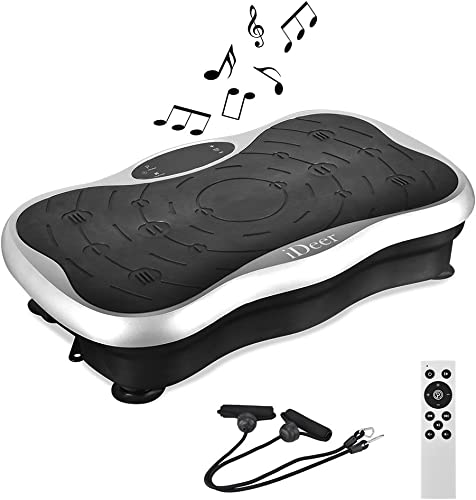 IDEER Vibration Platform Exercise Machines,Whole Body Vibration Plate,Fit Massage Vibration Platform Machine w Remote Band