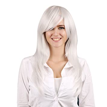 Woman Cosplay Wig A Prueba De Calor Sintética Peluca Cosplay Natural Largo Y Casta?o