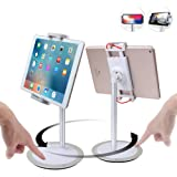 Tablet Stand Height Adjustable Tilt Swivel 360° Rotate Holder Mount Stand for 4.7~12.9 inch iPad / Mini / Pro / Air, Nintendo Switch, Galaxy Tab, Surface, iPhone, Samsung, Google Phone - Klearlook
