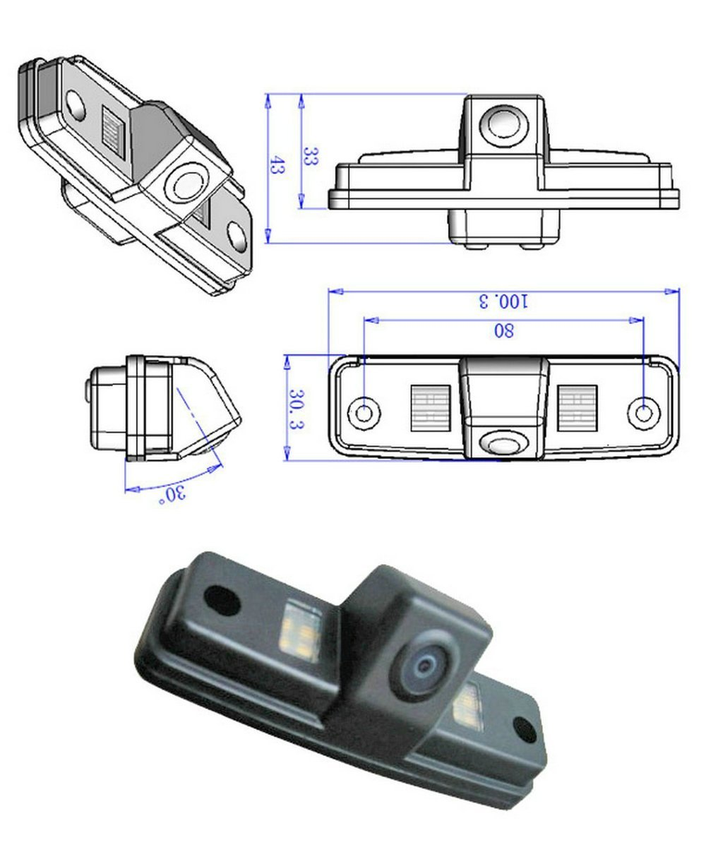 TheCoolCube CCD Chip Car Back Up Rear View Reverse Reversing Parking Camera for Subaru Forester Outback Impreza Sedan