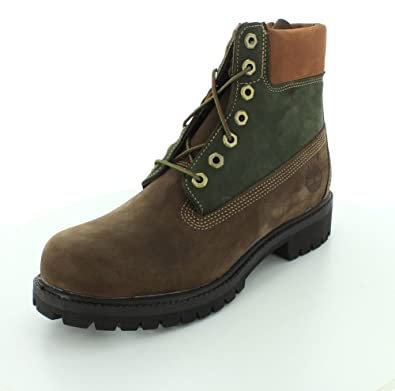 f7b5a281 Amazon.com | Timberland Mens Icon 6-Inch Premium Brown/Green Boot ...