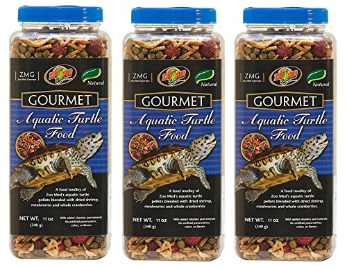 - Zoo Med Gourmet Aquatic Turtle Food (Pack of 3)