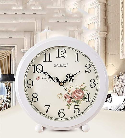 Reloj de Escritorio de Madera Maciza Vintage Cuarzo pequeño Reloj ...