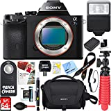 Sony Alpha 7S Mirrorless Interchangeable Lens Camera Body + NP-FW50 Spare Battery & Accessory Bundle