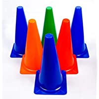 Woodpecker Heavy Quality Elementary Marker Cones - Pack of 6 (6 Inch) for Soccer Cricket Track and Field Sports | Agility Field and Training Cone
