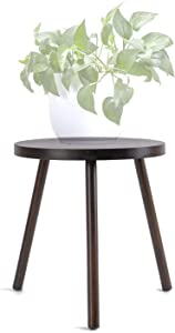 TIMEYARD Mid Century Plant Stand, Indoor Tall Plant Stand Wood Planter Holder for Flower Pots, Small Round Side Table, Modern Home Decor (Planter Not Included)