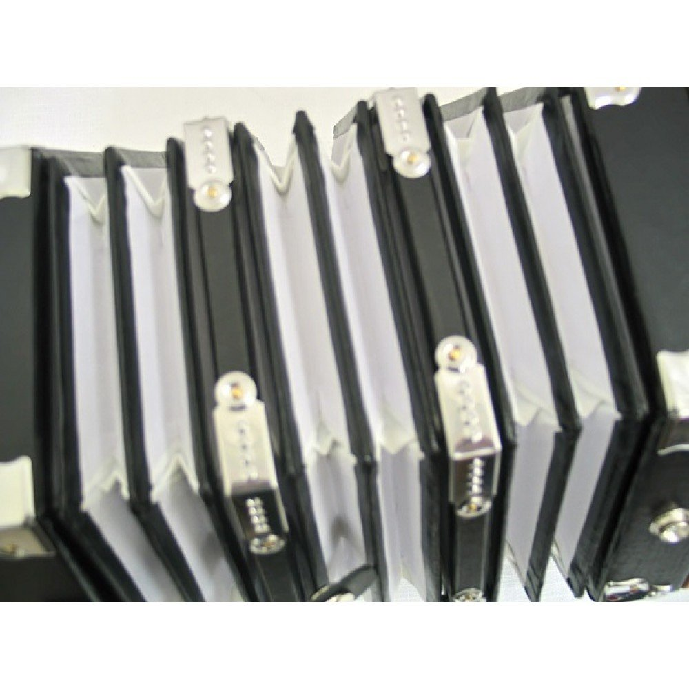Bonetti Concertina 20 Key Accordion - 40 Reed, Natural Color with Case by Bonetti (Image #4)