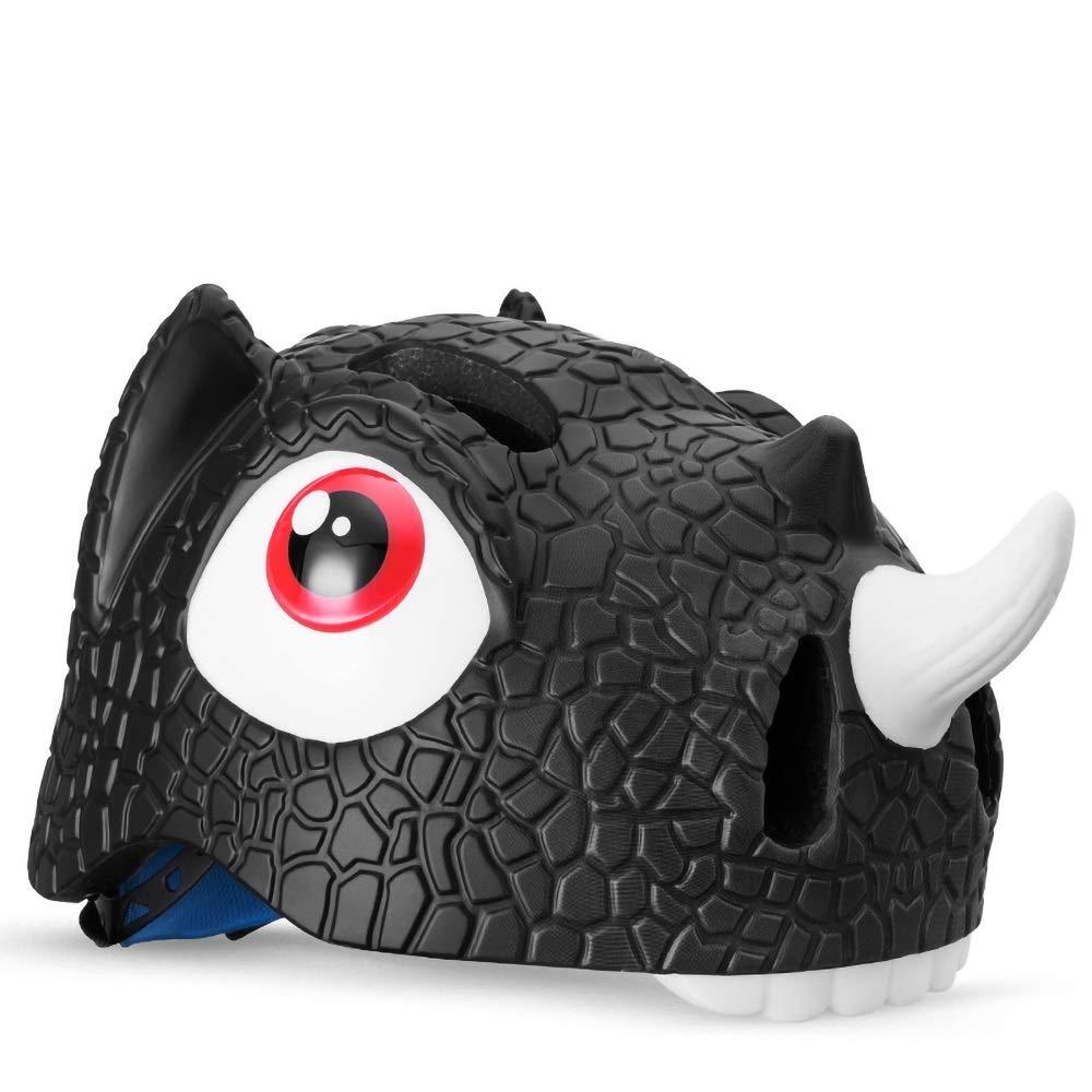 キッズヘルメット 子供用ヘルメット恐竜/ユニコーン/魚/虎/鮫/ワニ柄(頭囲5257cm) (Color : Pattern-03)   B07PZ9NYZW