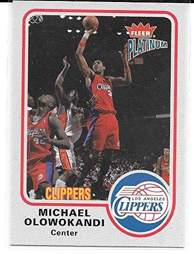 - Michael Olowokandi 2002-03 Fleer Platinum Los Angeles Clippers Card #111