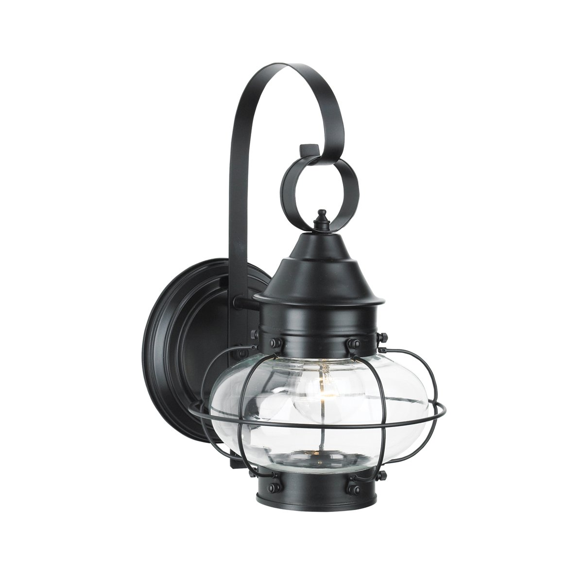 Norwell Lighting 1323 Cottage Onion - One Light Outdoor Small Wall Mount (Black)