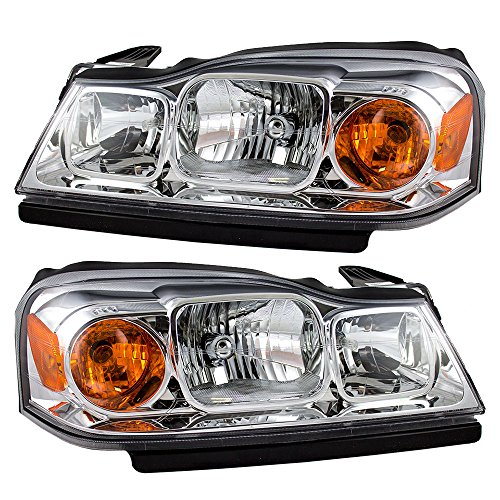 - Headlights Headlamps Driver and Passenger Replacements for 06-07 Saturn Vue 15877671 15877672