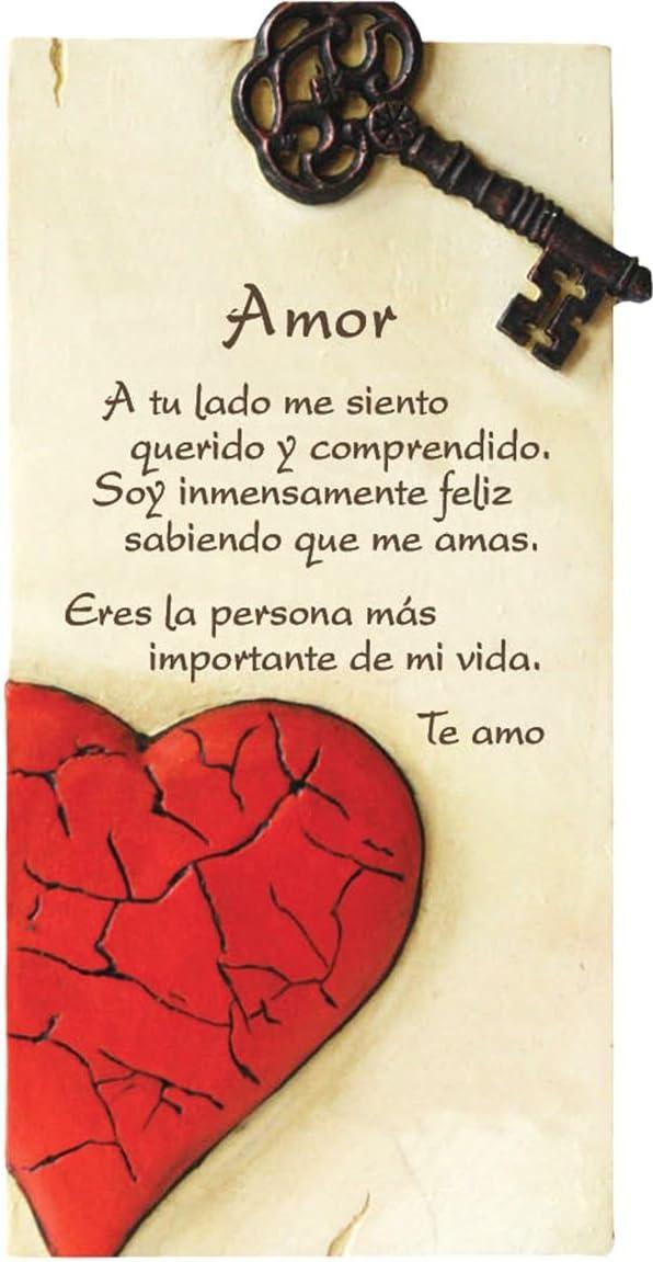 Framan PERGAMINO DE Piedra LABRADA con Texto para San VALENTÍN (DÍA DE LOS Enamorados) Ideal para Regalo Original Y ECONÓMICO. (para Ella)